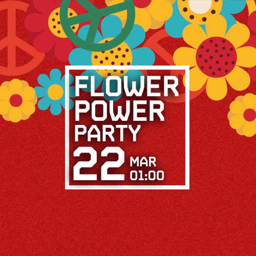 FLOWER POWER PARTY amb BUFF BAY